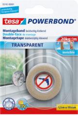 Tesa tesa POWERBOND Montagetape Transparant (l x b) 1.5 m x 19 mm Rubber Inhoud: 1 rollen