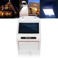 Meco Solar Power 20 LED Waterproof PIR Motion Sensor Wall Light Outdoor Garden Lamp