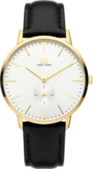 Gouden Danish Design watches edelstalen herenhorloge Akilia Second Gold IQ15Q1250