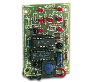 Afbeelding van Velleman MK109 Knipperlicht bouwpakket Uitvoering (bouwpakket/module): Bouwpakket 9 V/DC