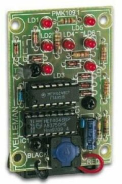 Velleman MK109 Knipperlicht bouwpakket Uitvoering (bouwpakket/module): Bouwpakket 9 V/DC