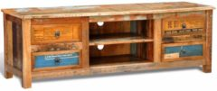 VidaXL Tv-meubel met 4 lades gerecycled hout VDXL 240955