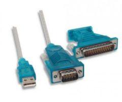 LogiLink USB 2.0 - RS232 Pol Adapterkabel, 1,2 m Kabel