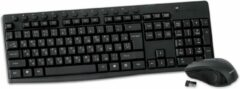 Zwarte Omega draadloos toetsenbord (Russisch) en muis met multi-media toetsen 2.4GHZ