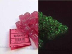 Roze Steve Jackson Games Set 36 6-zijdig, 12mm Borealis Luminary - Pink w/silver
