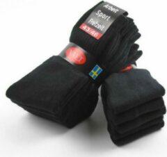 Merkloos / Sans marque Sport sokken 10 pak zwart 35-38