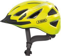 Gele ABUS Urban-I 3.0 Signal Fietshelm - Maat S (51-55 cm) - signal yellow