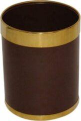 Zwarte Bolero prullenbak bruin met gouden rand 10,2ltr