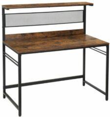 Maison Home Maison's Bureau - Bureautafel - Zwart/Bruin - Industrieel - Laptop tafel - 120x60x125,5
