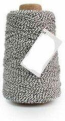 Vivant Cotton Cord Twist/ Katoen touw 500 meter zwart/wit ø2mm