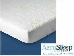Witte Aerosleep coolmax matrasbeschermer 160/210