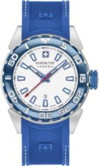 Zilveren Swiss Military Hanowa - Swiss Made - herenhorloge Scuba Diver 06-4323.04.001