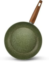 Koekenpan inductie - Ø 28 cm - TVS Natura met groene VEGAN anti-kleeflaag - 100% Recycled