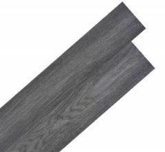 VidaXL Vloerplanken zelfklevend 5,02 m 2 mm PVC zwart en wit