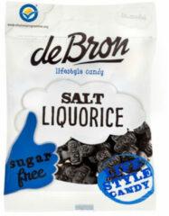 De Bron Klavertjes Zout/salt Liquorice Suikervrij (100g)