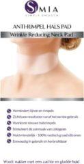 Creme witte SIMIA Premium Kwaliteit Anti Rimpel Hals Pad - Herbruikbaar, Huidvriendelijk & Zelfklevend Gelpad tegen Lijntjes en Halsrimpels - 100% Medisch Graad Siliconen