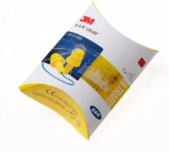 Gele Ear 3M™ E-A-R™ Ultrafit Oordoppen herbruikbaar met koord, pillowpack