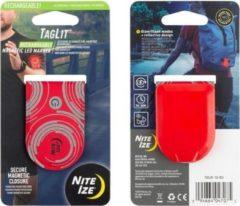 Rode Nite Ize - Reflecterende magnetsiche Led Marker - voor op je shirt