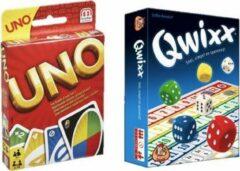 Mattel Spelvoordeelset Qwixx - Dobbelspel & Uno - Kaartspel