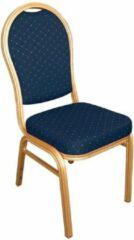 Bolero stapelstoel met ovale rug blauw (4 stuks) - 4