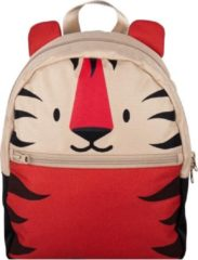 The Little Green Bag The Little groen Bag rugzak Fauna Tiger beige/rood
