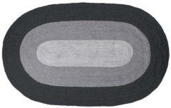 BePureHome Border Vloerkleed Ovaal Jute Zwart/grijs 170x300cm