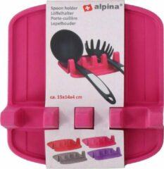 Alpina Lepelhouder 14,8 X 14,2 X 4,1 Cm Siliconen Roze