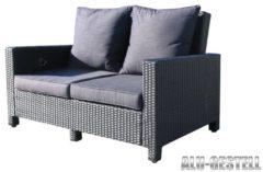 Rattan Lounge Sofa 140cm Couch Futon Couchgarnitur Schwarz Famous Home Schwarz