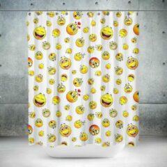 Gele Roomture - douchegordijn - Smiley - 120 x 200