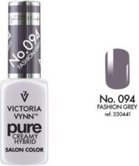 Donkergrijze Gellak Victoria Vynn™ Gel Nagellak - Gel Polish - Pure Creamy Hybrid - 8 ml - Fashion Grey - 094
