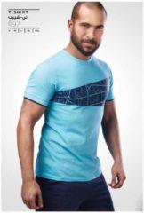 Merkloos / Sans marque Embrator T-shirt met grafische print turquoise maat S