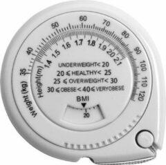 Witte Merkloos / Sans marque BMI Meter – Meetlint lichaam – Omvangsmeetlint - Body Mass Tape – BMI Berekenen
