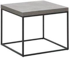 Donkerbruine Bijzettafel beton-look DELANO