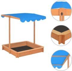 VidaXL Zandbak met verstelbaar dak UV50 vurenhout blauw