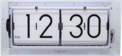 NeXtime Big Flip Clear - Tafelklok / Wandklok - Flipklok - Acryl - 36x16,7x8,5 cm - Transparant