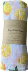Gele Happy Natural Baby Hydrofiel Doek XL Citroen- Hydrofiel Luier- Inbakerdoek- Baby Bad- Kado