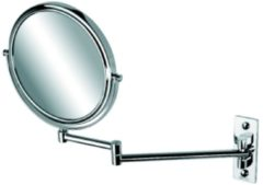 Geesa scheerspiegel 2-armig, normaal en 3x vergrotend, diameter 200 mm Mirror collectie