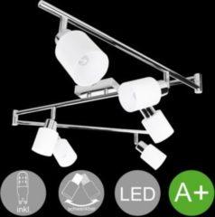 Wohnling 6-flammiger LED-Strahler Warmweiß EEK A+ inkl. 6x3 Watt Leuchtmittel Drehbare Deckenlampe IP20 Fassung G9 LED Diele Flur Deckenleuchte Spot