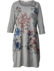 Kleid mit Blumen-Print Janet & Joyce Grau