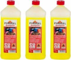 Merkloos / Sans marque Brandpasta op fles - 3 liter - Brandgel - Aanmaak gel BBQ aanmaken - Barbeque accesoires benodigdheden