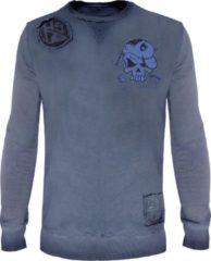 Zwarte Hotspot Design Sweatshirt Crank Forever | Blauw | Maat XXL