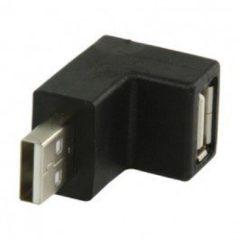 Zwarte Valueline VLCP60930B USB A Mannelijk USB A Vrouwelijk Zwart kabeladapter/verloopstukje