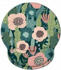 Roze Moodadventures |Muismatten | Muismat Pastel Flowers | Ergonomisch met Polssteun