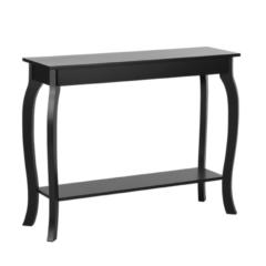 Beliani Console-tafel / wandtafel zwart 30 x 100 cm. HARTFORD