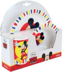 Witte Trudeau eetsetje Mickey Mouse 3 delig wit