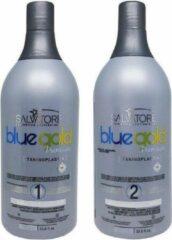 Salvatore Blue Shampoo & Conditioner Blue Gold Premium (Keratin) 1L