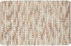 Zandkleurige Sealskin Vintage Badmat Polyester 50x80 cm Zand