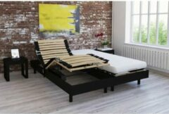 Zwarte Andere Ontspanningsset matras + wengé decoratieve manden 2x80x200 - Schuim - 14 cm - Boerderij - TALCA
