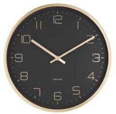 Karlsson Wandklokken Wall clock Design Armando Breeveld Zwart