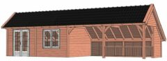 Van Kooten Tuin en Buitenleven Kapschuur De Hoeve XL 1217x440 cm - Combinatie 1
